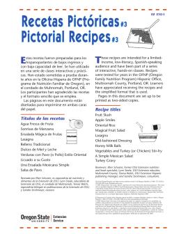 Recetas Pictóricas Pictorial Recipes T E