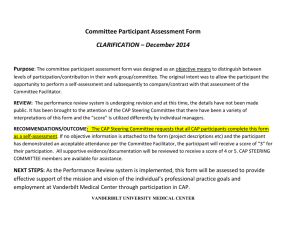 Committee Participant Assessment Form CLARIFICATION – December 2014 Purpose