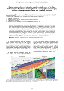 High-resolution seismic stratigraphy, multibeam bathymetry of the Capo