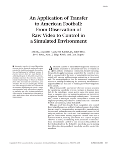 An Application of Transfer to American Football: From Observation of