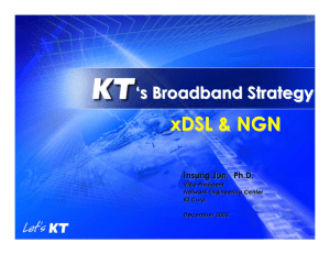 xDSL & NGN ' s Broadband Strategy