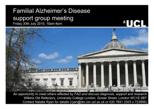 Familial Alzheimer's Disease support group meeting