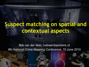 Suspect matching on spatial and contextual aspects Rob van der Veer,