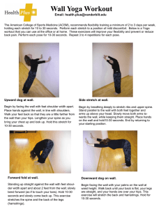 Wall Yoga Workout Email: