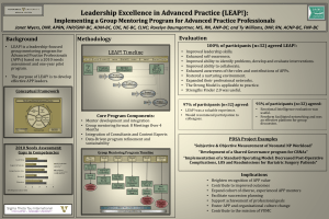 """Leadership Excellence in Advanced Practice(LEAP!)  Impact of a Group Mentoring Program for Advanced Practice Professionals"""