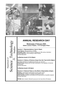 Technology Studies ANNUAL RESEARCH DAY