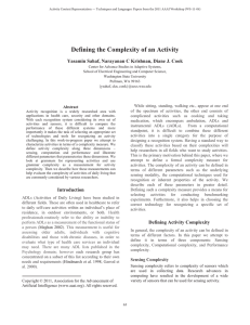 Defining the Complexity of an Activity