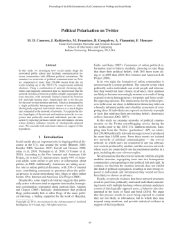 Political Polarization on Twitter