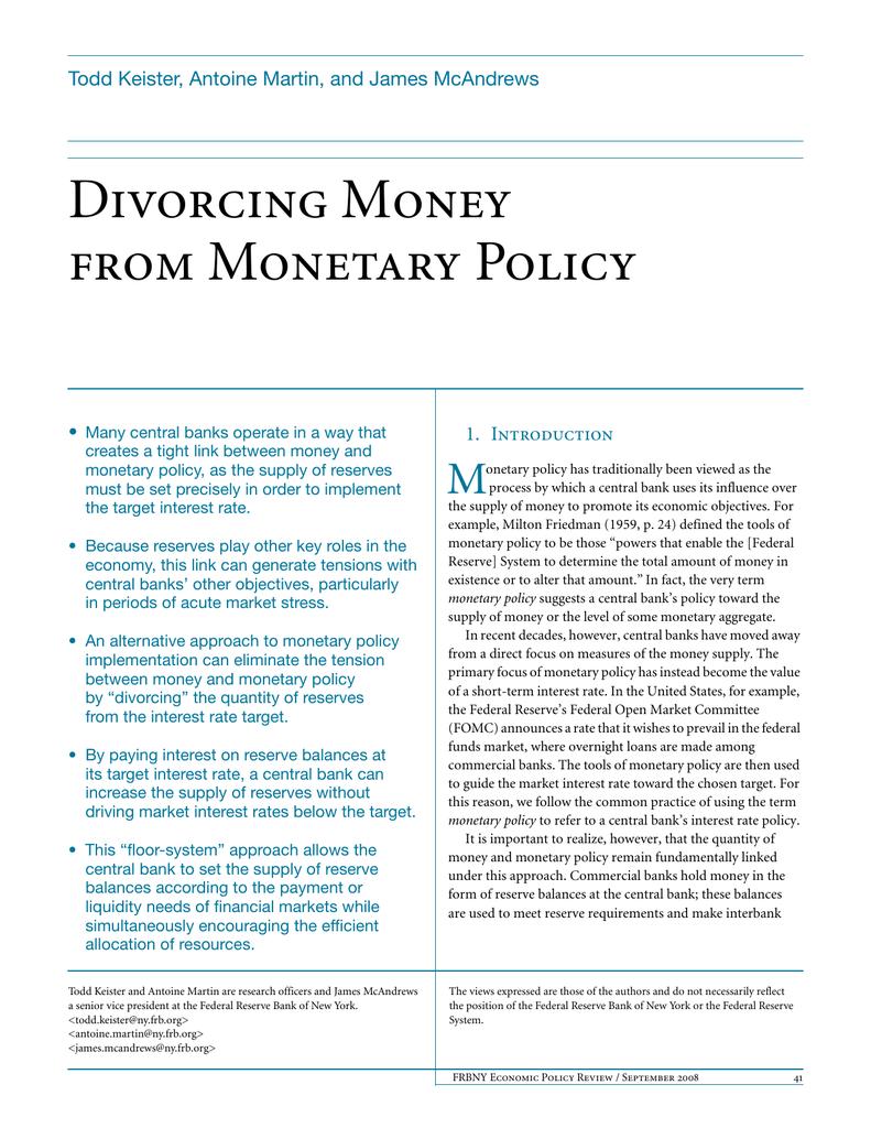 us monetary policy 2018