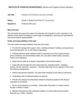 INSTITUTE OF COGNITIVE NEUROSCIENCE,  Job Title: Salary: