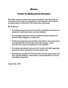 Mission  Center for Multicultural Education