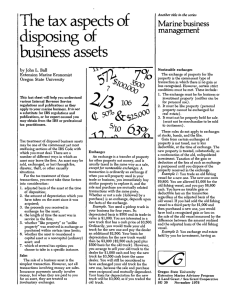 The tax aspects of disposing of business assets Marine business