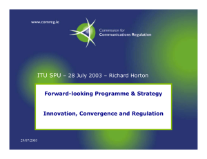 ITU SPU – 28 July 2003 – Richard Horton