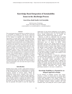 Knowledge Based Integration of Sustainability Issues in the (Re)Design Process