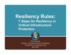 Resiliency Rules: 7 Steps for Resiliency in Critical Infrastructure Protection