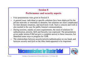 Session 8 Performance and security aspects