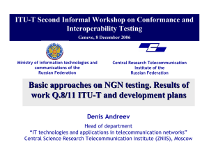 ITU-T Second Informal Workshop on Conformance and Interoperability Testing