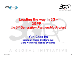 Leading the way in 3G – 3GPP the 3