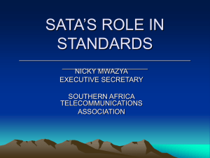 SATA'S ROLE IN STANDARDS ____________________________________________ ______________________