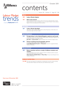 contents trends Labour Market October 2001