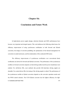 Chapter Six Conclusions and Future Work