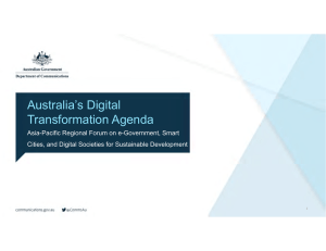 Australia's Digital Transformation Agenda