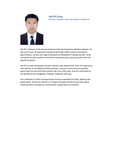 XIA FEI (Tony) Director, Southern‐East Asia Wireless Enterprise  Solution