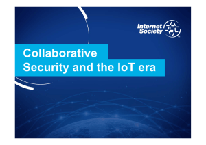 Collaborative Security and the IoT era