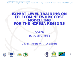 HIPSSA Cost model training workshop: