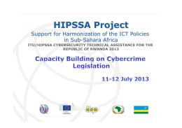 HIPSSA Project  Support for Harmonization of the ICT Policies in Sub-Sahara Africa