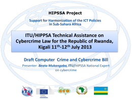 ITU/HIPPSA Technical Assistance on Cybercrime Law for the Republic of Rwanda, -12