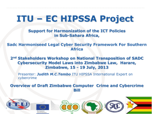 ITU – EC HIPSSA Project