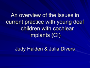 An overview of the issues in current practice with young deaf