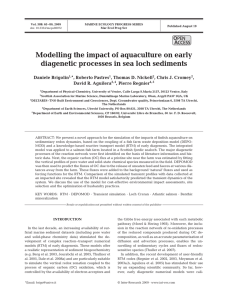 Modelling the impact of aquaculture on early O PEN
