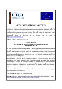 OPEN POST-DOCTORAL POSITIONS