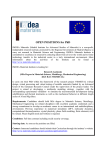 OPEN POSITIONS for PhD