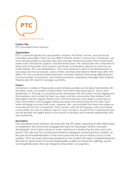 Position Title Organization PTC Unscripted Event Assistant