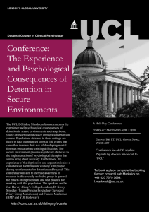 Conference: The Experience and Psychological