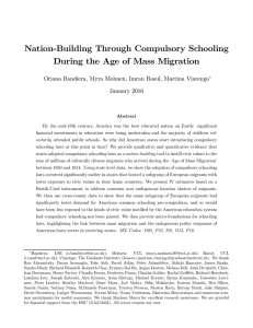 Nation-Building Through Compulsory Schooling During the Age of Mass Migration January 2016