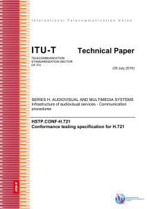 ITU-T Technical Paper