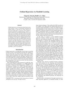 Ordinal Regression via Manifold Learning