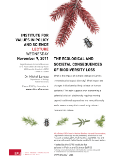InstItute for Values In PolIcy and scIence november 9, 2011