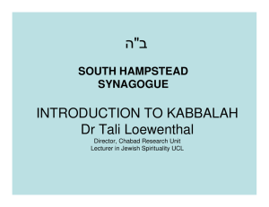 "ב "" ה INTRODUCTION TO KABBALAH"