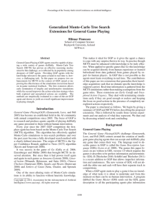 Generalized Monte-Carlo Tree Search Extensions for General Game Playing Hilmar Finnsson
