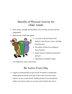 Benefits of Physical Activity for Older Adults