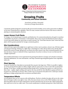 Growing Fruits Community and School Gardens