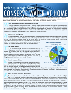 CONSERVE WATER AT HOME every drop counts: