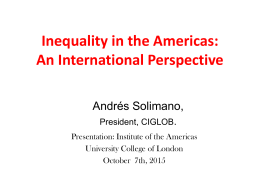 Inequality in the Americas: An International Perspective Andrés Solimano,
