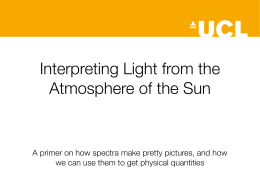 Interpreting Light from the Atmosphere of the Sun