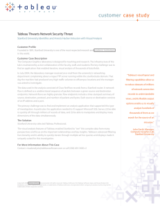 customer case study Tableau Thwarts Network Security Threat
